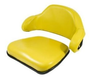 Seat Cushion Set 2 Piece Steel Back Vinyl Yellow For John Deere 4020 4230 7700