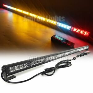44 Led Light Bar Emergency Tow plow Truck Wrecker Brake Amber White Cargo Light
