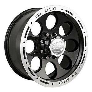 15x8 5x4 5 3 44bs Type 174 Black Machined Lip Ion Alloy Wheels