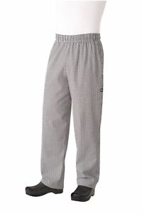 Chef Works Nbbp Basic Baggy Chef Pants Small Check Xxxx large New