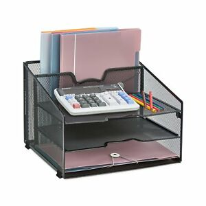 Desk Organizer Storage Office Desktop Steel Mesh File Holder Tray Paper Sorter