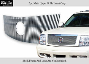 Fits 2002 2006 Cadillac Escalade Ext Esv Logo Show Stainless Billet Grille