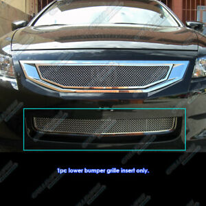 Fits 2008 2010 Honda Accord Coupe Bumper Stainless Mesh Grille