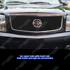 Fits 2002 2006 Cadillac Escalade With Logo Show Vertical Black Billet Grille