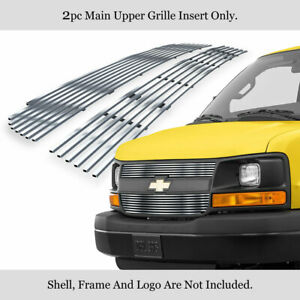 Fits 2003 2016 Chevy Express Explorer Conversion Van Stainless Billet Grille