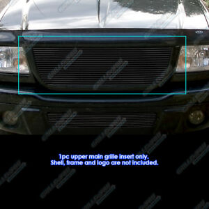 Fits 2001 2003 Ford Ranger Edge xlt 4wd Black Billet Grille Open Top Only