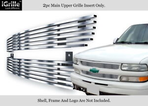 Fits 1999 2002 Chevy Silverado 1500 Tahoe Suburban Stainless Billet Grille