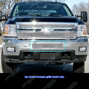 Fits 2011 2014 Chevy Silverado 2500hd 3500hd Stainless Bumper Mesh Grille