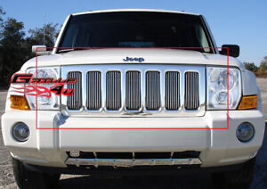 Fits 2006 2010 Jeep Commander Vertical Billet Grille Insert