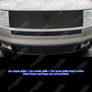 Fits 2007 2010 Ford Edge Black Upper And Bumper Combo Black Billet Grille