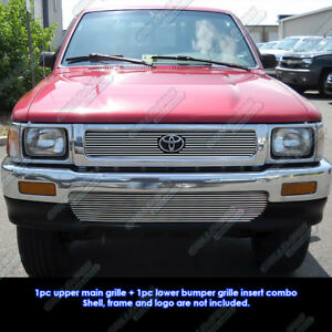 Fits 1992 1995 Toyota Pickup Truck 4wd Billet Grille Combo