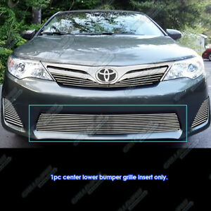 Fits 2012 2014 Toyota Camry Bumper Billet Grille Gill Insert