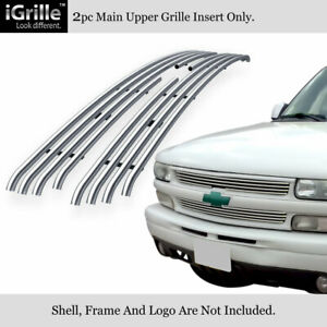 Fits 1999 2002 Chevy Silverado 1500 2000 2006 Tahoe Stainless Tubular Grille