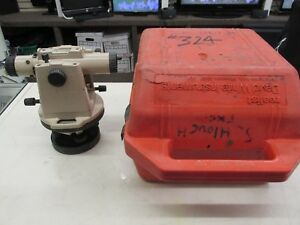David White Instruments Lt8 300p Level Transit Optical Plummet W Case Tested