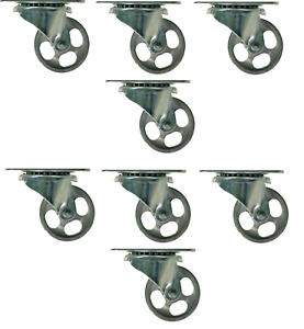 8 Pack Shepherd Steel 2 In Dia Swivel Gray Casters 125 Lb 8 Pk