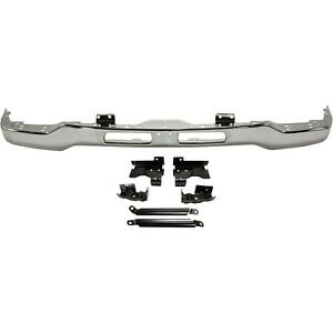 Front Bumper For 2003 2007 Gmc Sierra 1500 Chrome Steel With Mounting Bracket S