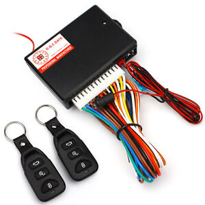Central Kit Door Locking Vehicle Keyless Entry System W 2pcs Remote Controllers