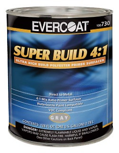 Evercoat 730 4 1 Gray Polyester Primer Dtm Super Build Gallon Only fib 730