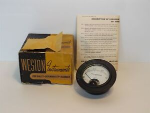 New Weston Instruments Model 425 0 500 Microamperes R f Panel Meter