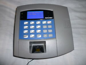 Paychex Biometric Finger Print Time Clock Oemp2105 04