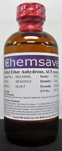 Diethyl Ether Acs 99 100ml for Photographic Applications