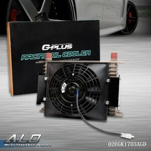 7 Fixed Cooling Fan Universal 15 Row An10 Engine Transmission Oil Cooler Kit