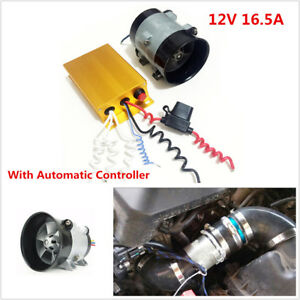 12v 16 5a Car Electric Turbine Power Turbo Charger Boost Bold Lines W Controller