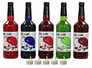 Snow Cone Shave Ice Syrup 5 Quart Assortment New