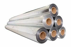 100sqft 4 x25 Radiant Barrier Solar Attic Foil Reflective Insulation Perforated