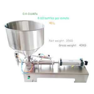 100 1000ml Automatic Filling Machine For Paste thick Liquid Cream Honeypneumatic