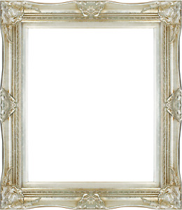 Frame 24x20 Vintage Old Silver Antique Style Ornate Picture Frame 566 2