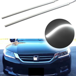 Evenly Illuminating White Led Strip Drl Lights For 13 15 Honda Accord Headlight