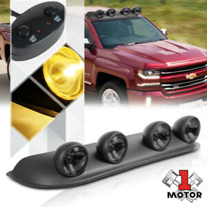 Smoked Lens Universal 4x4 Off road Roof Mount Fog Light Lamp W switch harness