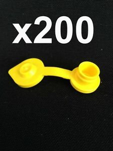 200 Yellow Vent Caps Replacement Gas Can Fuel Jug Blitz Wedco Scepter Essence
