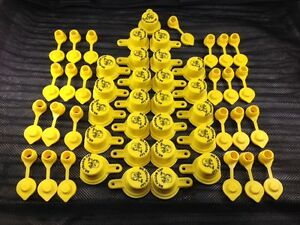 Cap vent Pack 25 Blitz Yellow Spout Caps 25 Vents 50pcs Total New 900092