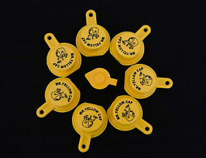 7x Blitz Yellow Spout Caps For Gas Can Spouts 900302 900092 900094 Free Vent
