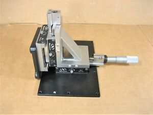 Newport 462 Series X Y Z Linear Stage With Starrett 25mm Micrometer