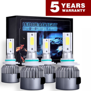 9005 9006 2000w 300000lm Combo Led Headlight Kit High Low Beam Bulbs 6000k White