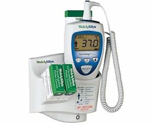 Welch Allyn Suretemp Plus 692 Electronic Thermometer With Wall Mount And New