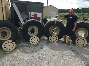 Sand Trail 450 80r20 Tire Military Tire Wheel Assembly Lot Of 4 New In Crate