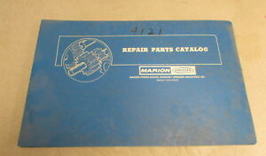 Marion Power Shovel Company Dresser 4121 Repair Parts Catalog Manual 7510