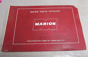 Marion Power Shovel Company 151 m Repair Parts Catalog Manual 8566