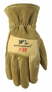 Wells Lamont Flame Resistant Leather Work Gloves Cowhide Extra Large T New