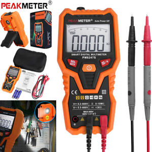 Peakmeter Pm8247s Smart Auto Range Digital Multimeter Voltmeter Ammeter