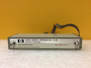 Hp Agilennt 08565 60084 Dc To 24 Ghz Sma f Step Attenuator Tested
