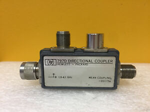 Hp Agilent 797d 1 9 To 4 1 Ghz 1 15 1 25 Swr N m f Directional Coupler
