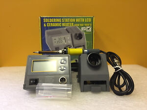 Velleman Vtssc40n 150 To 450 c Digital Soldering Station Iron Stand Tips