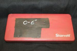 Starrett Depth Micrometer 0 6 443 In Original Case