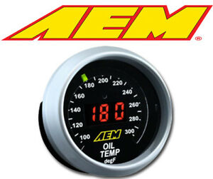 Aem Digital Oil Coolant Trans Temperature Gauge 100 300f 30 4402
