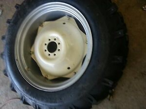Two 13 6x28 Massey Ford R 1 Tractor Tires For Replacement Spin Out Wheels